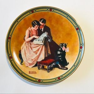 Knowles Norman Rockwell Couples Commitment Plate